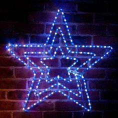christmas solar led triple star light 81cm