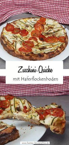 Fitness Tomaten-Zucchiniquiche mit Haferflockenboden und Skyr  #Zucchiniquiche #Zucchini #quiche Zucchini Quiche, Easy Peasy, Pepperoni, Pizza, Eat, Food, Vegetarian Recipes, Simple Recipes, Essen