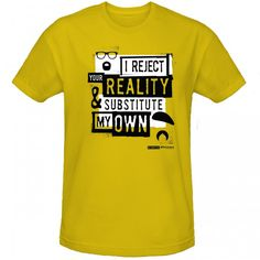 MythBusters I Reject Your Reality Kids' T-Shirt - Yellow   My son TOTALLY needs this shirt.