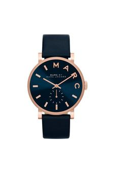 Marc Jacobs watch rose gold and navy