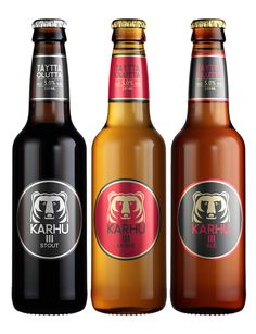 Guilherme Jardim of NTGJ design has redesigned Karhu, a Finnish beer brand from Kerava. Karhu translates to bear in Finnish, and the new concept refreshes and reinterprets Karhu's iconic bear icon.