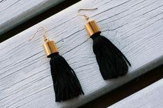 DIY: kolczyki z frędzlami - tassel earrings diy