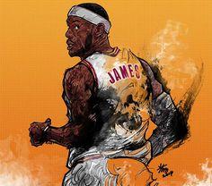 #Yellowmenace: NBA LEGENDS by KIM MINSUK (김민석) - LeBron James *See More Minsuk Basketball Art HERE - NBA Season 2014-15> http://yellowmenace8.blogspot.com/2015/04/art-minsuk-kim-nba-2014-15-season-in.html Korean Basketball> http://yellowmenace8.blogspot.com/2015/05/art-korean-basketball-illustrated-by.html