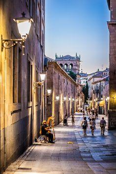 Calle de la Compañia in Salamanca, Spain