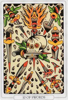 Ten of Swords - Tarot of the Tattoo Age