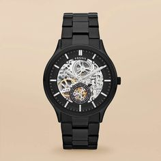 FOSSIL® Watch Styles Mechanical Watches:Men Ansel Stainless Steel Watch – Black ME3022