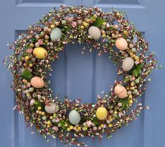 Easter egg wreath...mom can u make this for me???