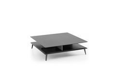 Small table anthracite varnished with Kris feet and anthracite ending.