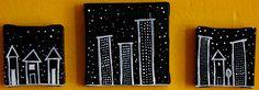 trilogy of tiny black & white cityscapes