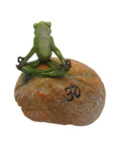Om Frog Statue from BuddhaGroove.com