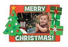 PWS Sales Merry Christmas Photo Picture Frame Magnet Craft Kits - Makes 12 Picture Frame Christmas Ornaments, Merry Christmas Pictures, Christmas Frames, Christmas Presents For Friends, Christmas Crafts For Gifts, Christmas Ornament Crafts, Diy Christmas, Christmas Activities, Gingerbread House Pictures