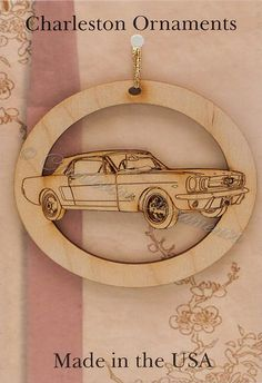 Engraved Classic Mustang Ornament FREE PERSONALIZATION Mustang Lover Christmas Gift, Mustang Gift Topper, Mustang Christmas Ornament
