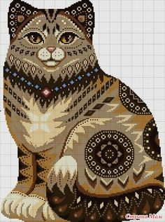 Counted Cross stitch kit Cat night hunting Panther