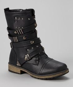 Black Strappy Alisia Boot - regularly $75, Zulily price $24.99 8/14/2014