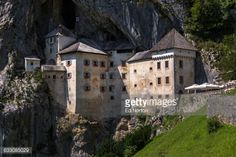 A 13th century castle built in to the side of a mountain cave... #predjama: A 13th century castle built in to the side of a… #predjama