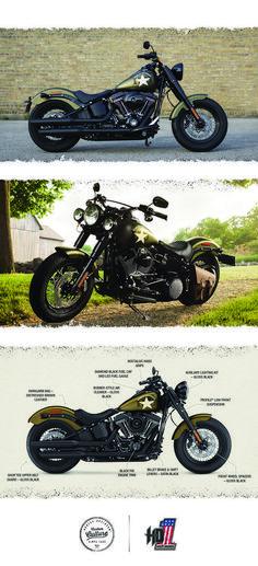Nothing gets more respect on the street than power. | 2016 Harley-Davidson Softail Slim S #harleydavidsonfatboycustom