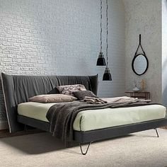 Unique, beautiful 'Zuko' bed by Confort Line