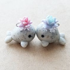 """2,120 Likes, 48 Comments - Janice M. (@claybiecharms) on Instagram: """"Hehe they are kissing We changed our whales a bit. We used pearlex for the first time and made…"""""""
