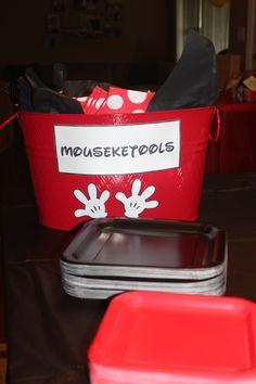 Mouseketools-Mickey Mouse birthday party-I plan Disney, please follow me. Courtney@travelwiththemagic.com