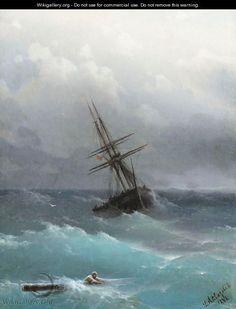 The Storm - Ivan Konstantinovich Aivazovsky