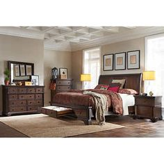 Brownstone 6 Piece Pull Out Cal King Bedroom Set $4,199 Costco