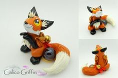 Wakkari the fox.  Clay griffins, dragons, foxes and more! www.calicogriffin.deviantart.com and www.calicogriffin.etsy.com. Also available on facebook!