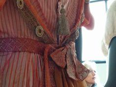 Haags Gemeentemuseum. Details of the back of Caroline Bingley's ball dress.