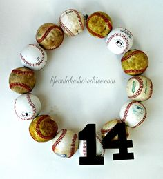 college wreath | ... wreath, baseball wreath tutorial, how to make a baseball wreath