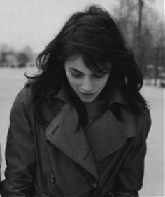 Charlotte Gainbourg #charlotte_gainsbourg #trench 'winter 'black_white