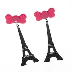 First Kiss earrings. They kissed atop the Eiffel tower.