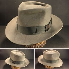 Just finished this granite grey 6 point diamond crease with vintage mid grey grosgrain ribbon (w/ 2 tone knot). Mens Shoes Boots, Shoe Boots, Jack Black, Black Jacks, Gentleman Hat, Stylish Mens Outfits, Cool Hats, Hats For Men, Fedora Hats