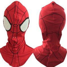 Halloween Spider Man Face Mask Cotton Spiderman Hood Kids Adults's Cosplay Party Carnival Prom Accessories