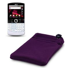 CLOTH POUCH W/POCKET FOR ACER BETOUCH E210 PURPLE