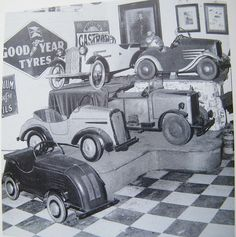 """pedal car...""""this  sorta looks like the Speedway Museum in Lincoln Nebraska"""""""
