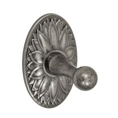 Fusion Hardware RH-D9 Robe Hook with Oval Floral Trim