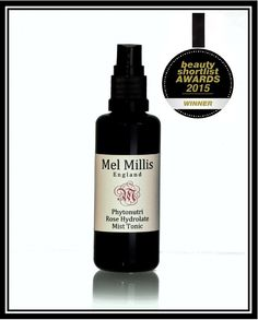 Mel Millis Phytonutri Rose Hydrolate Mist Tonic. Winner at the Beauty Shortlist Awards 2015