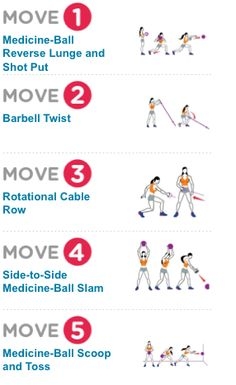 WOMEN'S HEALTH-- New Exercises: Take Your Workout Routine In a New Direction. Sculpt a stronger, leaner physique by adding twisting and throwing moves into your routine Fitness Tips, Fitness Motivation, Health Fitness, Fitness Sport, Women's Health, Train Insane Or Remain The Same, Baby Fat, Medicine Ball, Sweat It Out