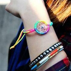 Amazon.com: Aokdis Brand New Popular Lovely Charm Campanula Dream Catcher Bracelet (Colorful): Beauty