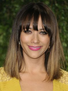 Short straight ombre
