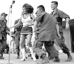 Raquel Welch dancing with the boys