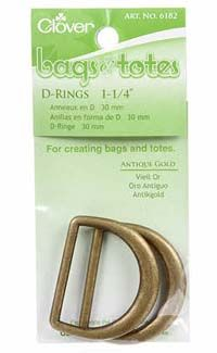 D Ring Antique Gold 1-1/4 in