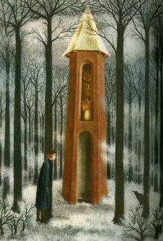 1962 'L'Ecole Buissonniere', Remedios Varo Uranga (1908~1963, Spanish-Catalan born Mexican para-surrealist painter and anarchist)