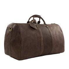 Vintage Style Full Grain Leather Travel Bag Duffle Bag Weekender Bag 12027 - ROCKCOWLEATHERSTUDIO