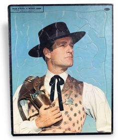 Wyatt Earp puzzle from the television show, 1958
