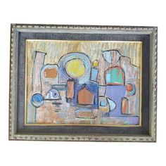 Shop art at Chairish, the design lover's marketplace for the best vintage and used furniture, decor and art. Abstract Geometric Art, Contemporary Abstract Art, Mirror Artwork, Bench Covers, Chic Living Room, Living Rooms, Interior Design Business, Library Design, 1980s