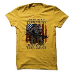 Awesome Camping Lovers Tee Shirts Gift for you or your family member and your friend:  Mess with the best, die like the rest - USA version Tee Shirts T-Shirts