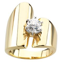 Solitaire Engagement Ring Mounting | Stuller. What stone would you get our Goldsmith to set in this fabulous mount?