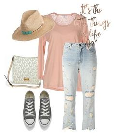 """hat"" by masayuki4499 ❤ liked on Polyvore featuring Michael Kors, James Perse, Alexander Wang, Converse and Hat Attack"