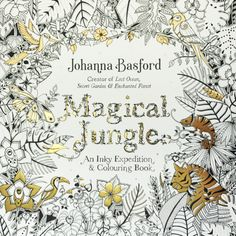 Magical Jungle – Johanna Basford |  Inky Stitches embroidery with colouring books free tutorials  www.katiedawsonstitched.com.au
