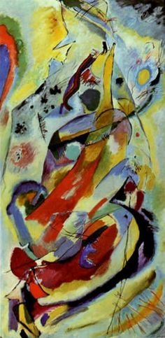 wassily kandinsky biography | Painter Wassily Kandinsky. Painting. Wall Panel (for Edwin R. Campbell ...